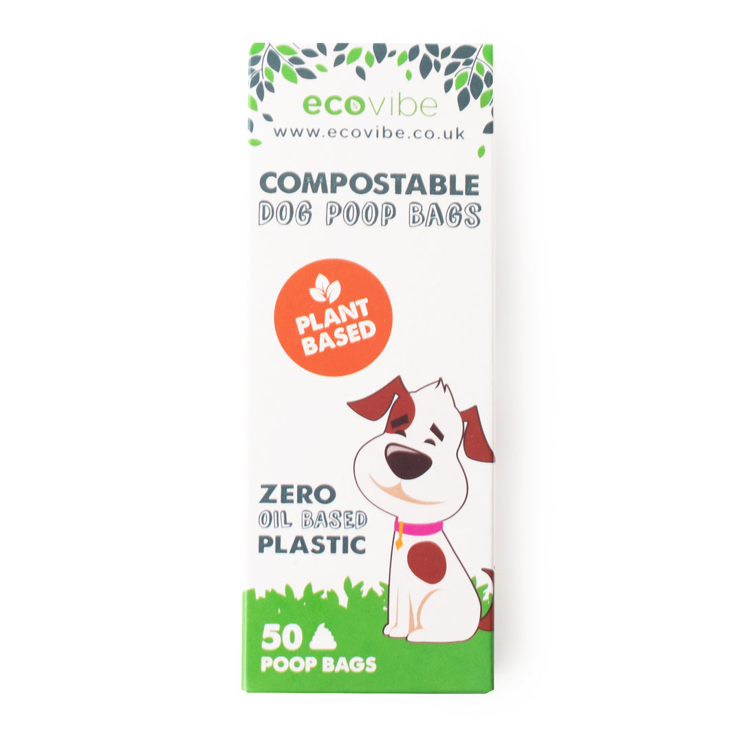 Biodegradable compostable poop bags (50 bags)