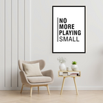Load image into Gallery viewer, GoofyStore™ No More Playing SMALL Print, Motivation Poster A3
