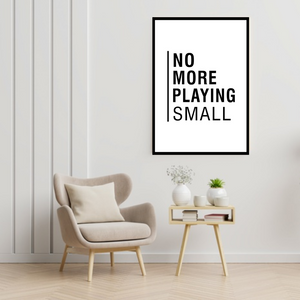 GoofyStore™ No More Playing SMALL Print, Motivation Poster A3