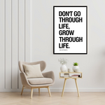 Load image into Gallery viewer, GoofyStore™ Grow through Life, Motivational Poster A3