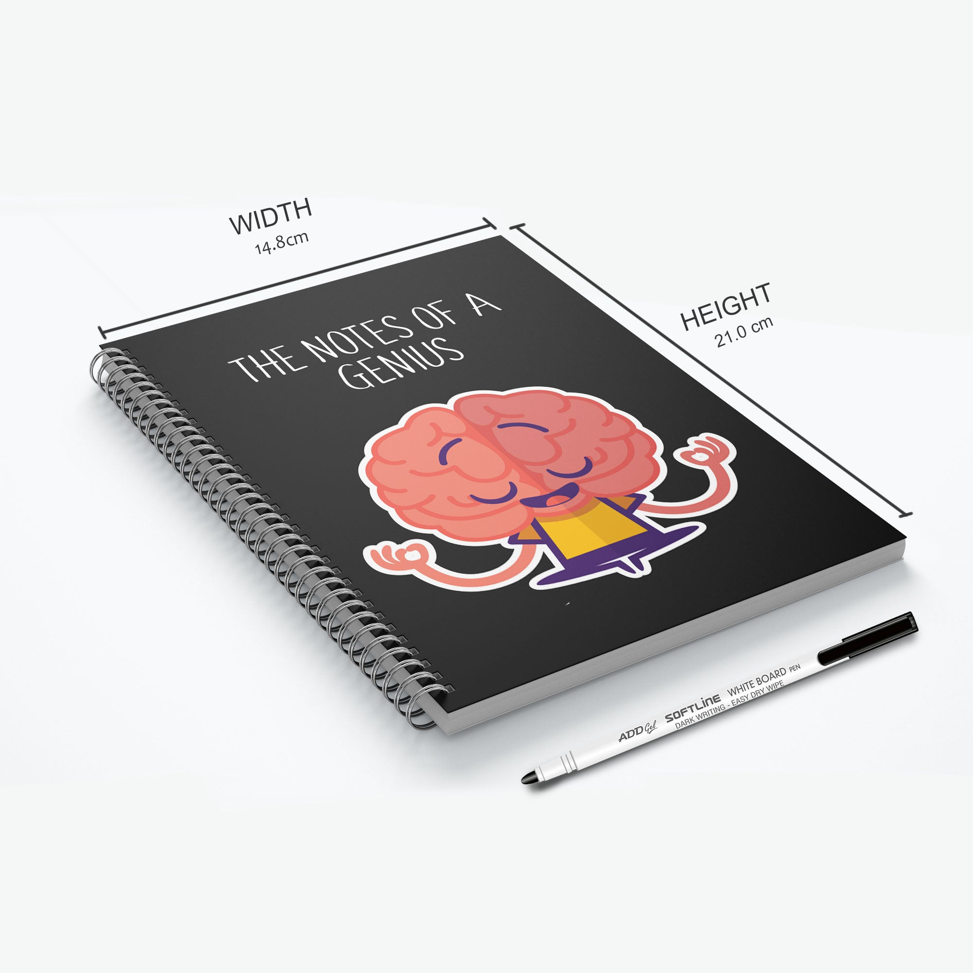 GoofyStore™ Notes Of A Genius Reusable Notebook