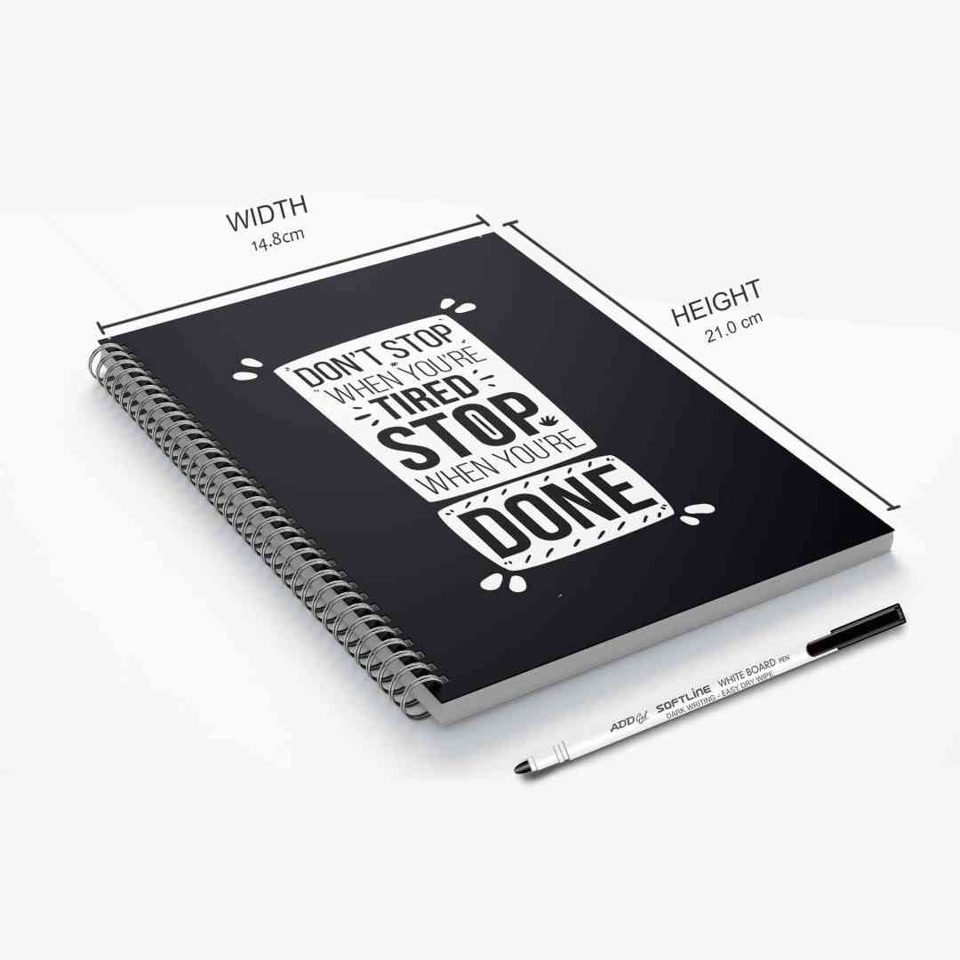 GoofyStore™ Don't Stop When You are Tired Reusable Notebook