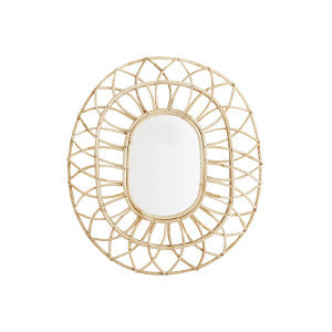 Madam Stoltz Large Bamboo Mirror