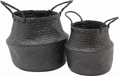 Black Storage Baskets - Available In 2 Sizes