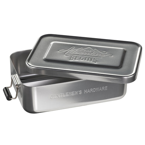 Silver Metal Men's Lunch Tin