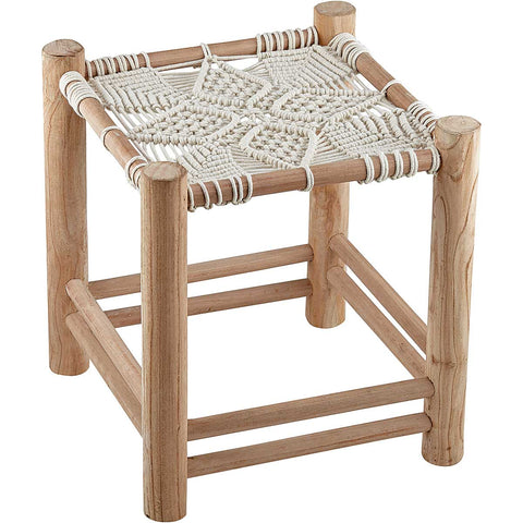 Retro Style Wicker Stool - 2 Sizes Available