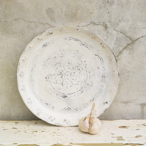 Distressed Metal Tray -36cm