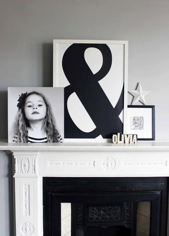 Monchrome Ampersand Print - 2 Sizes Available