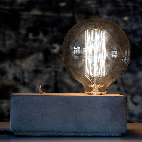 Concrete Block Table Light
