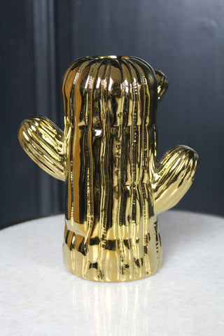 Gold Cactus Vase - 2 Sizes Available