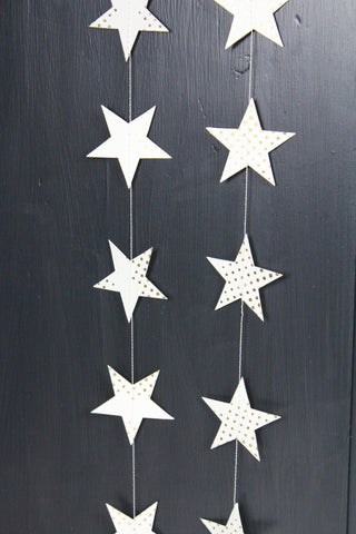 Dotted Gold Star Garland - 3m