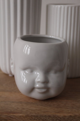 Doll's Head Vase - 2 Colours Available
