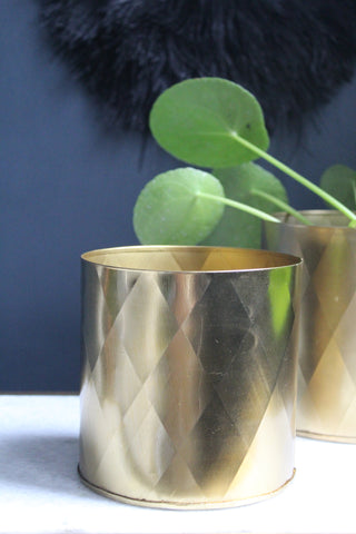 Gold Metal Plant Pot - 3 sizes available