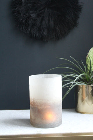 Gold Frosted Glass Votive