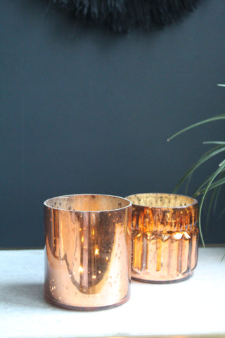 Bronze Glass Tealight Holders - 3 options available