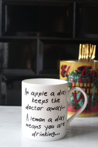 An Apple A Day China Mug - low stock