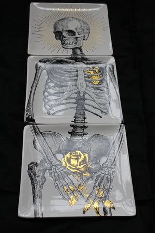 Set of 3 skeleton plates