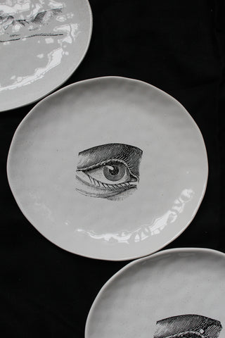 White Ceramic Plates - 4 Designs Available