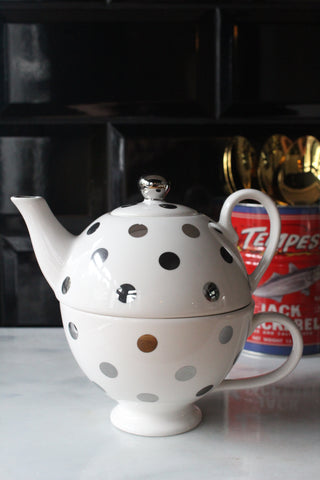 Tea For One Teapot And Teacup - Available in 2 Colours