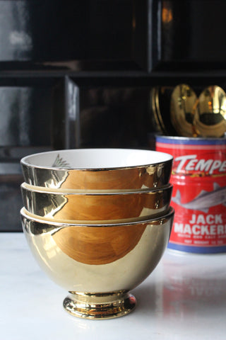 Gold Bird Bowl - 11cm