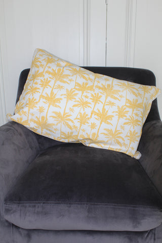 Palm Print Cotton Cushion - 60cm