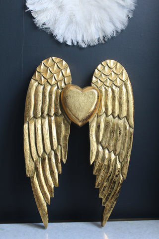 Gold Wooden Angel Wings - 1 left