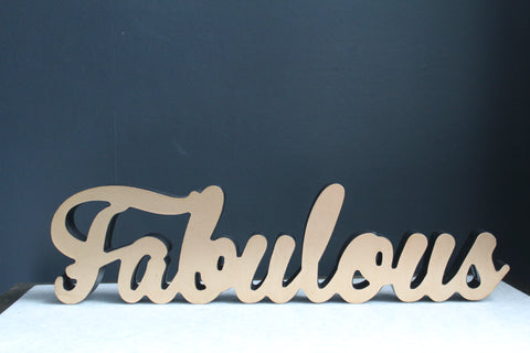 Fabulous Gold Wooden Wall Sign - second