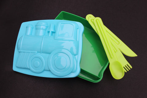 RICE DK - Train Kids Lunch Box With Cutlery