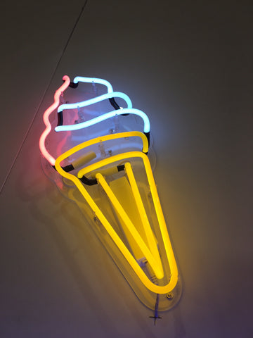 Ice Cream Neon Perspex Wall Light
