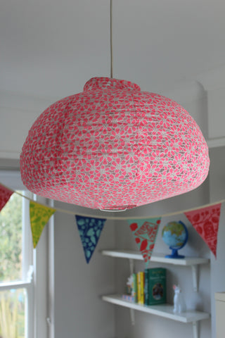Rice Dk Floral Pink Ceiling Lamp Shade