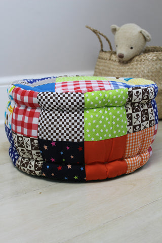 Kid's Patchwork Pouffe - Boys