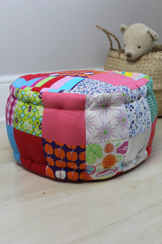 Kid's Patchwork Pouffe - Girls
