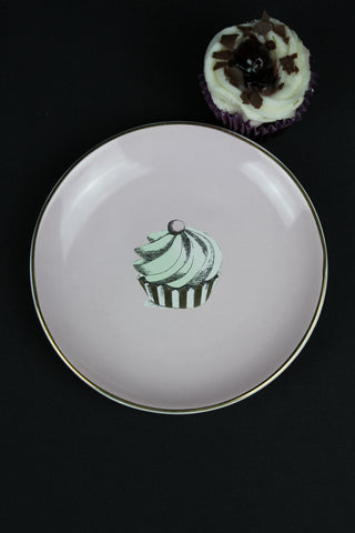 17cm Cupcake Plate - 3 Colours