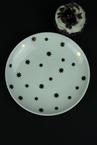Star Gold Cake Plate -17cm