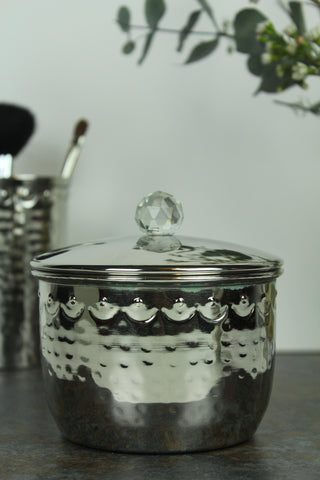 Hammered Metal Storage Canister