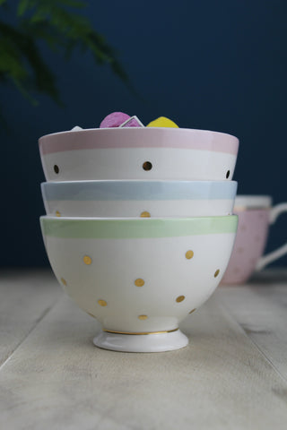 Pastel Gold Small Spotted Bowl - 3 Colours Available