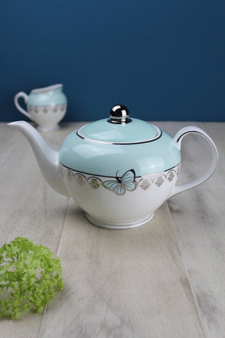 Vintage Style China Butterfly Teapot
