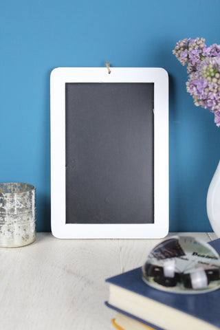Wooden Small Blackboard - White