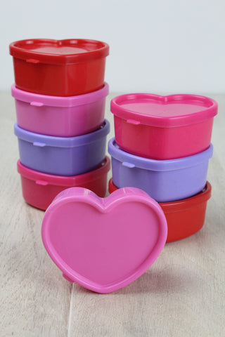 RICE DK Heart Shaped Food Storage Containers - Set of 8