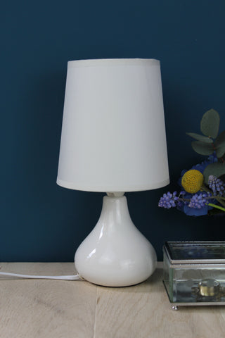 Bloomingville Small White Table Lamp With Shade