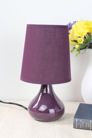 Bloomingville Small Purple Table Lamp With Shade