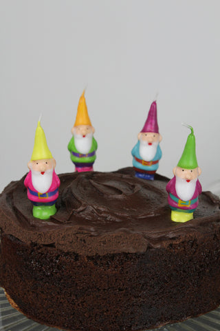 Mini Gnome Celebration Cake Candles