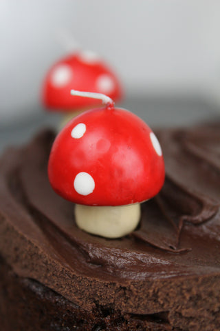 Mini Mushroom Celebration Cake Candles