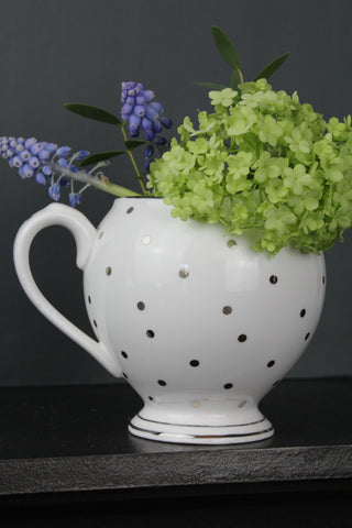 White Spotted China Jug In Gift Box