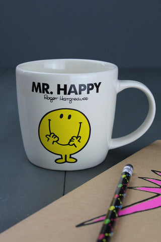 Mr Happy Ceramic Mug In Gift Box