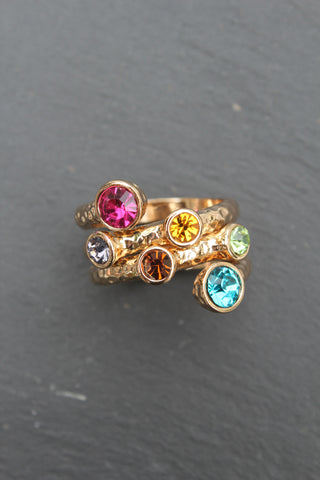 Jessica Stoned Multi Row Ring