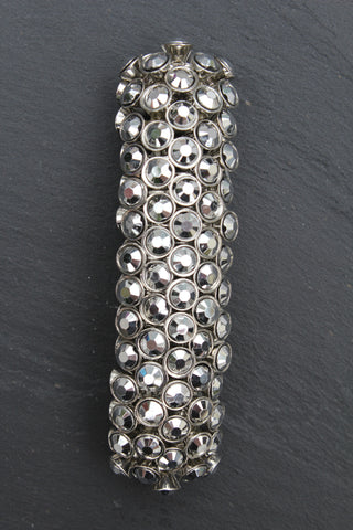 Silver Glass Stoned Stretch Bracelet