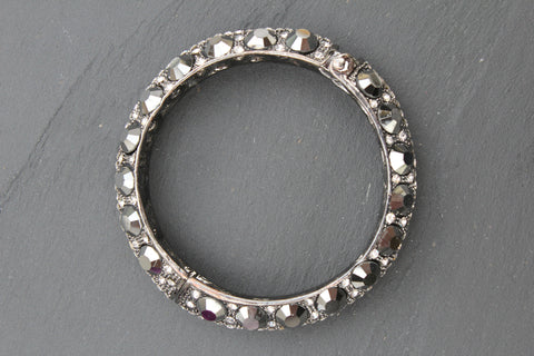 Mega Jewelled Hinge Bangle