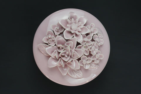 Pink Flower Trinket Box