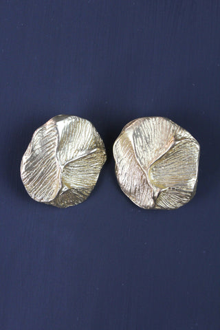 Vintage Gold Plated Clip On Earrings